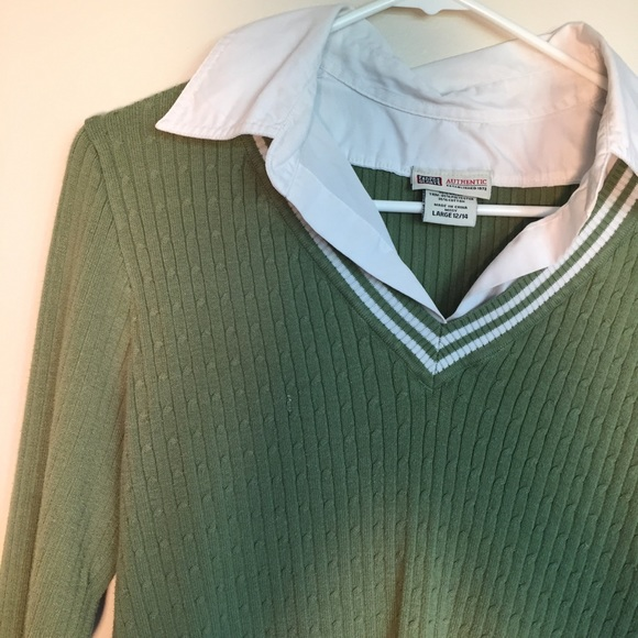 Faded Glory Sweater With Built In Collar